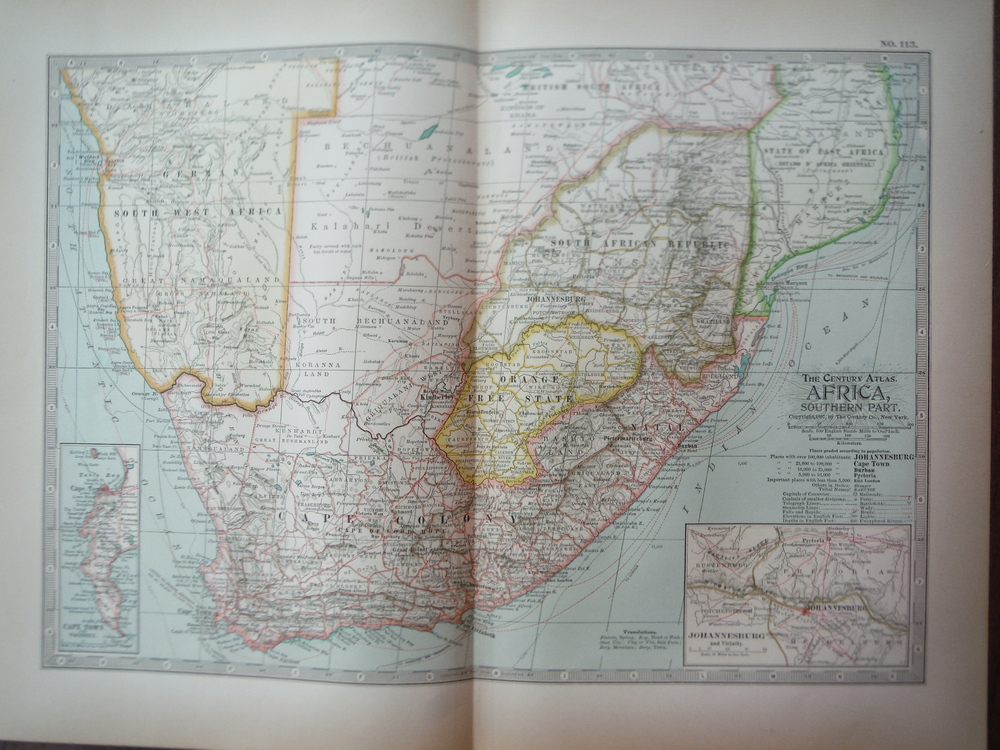 Image 0 of The Century Atlas  Map of South Africa (1897)
