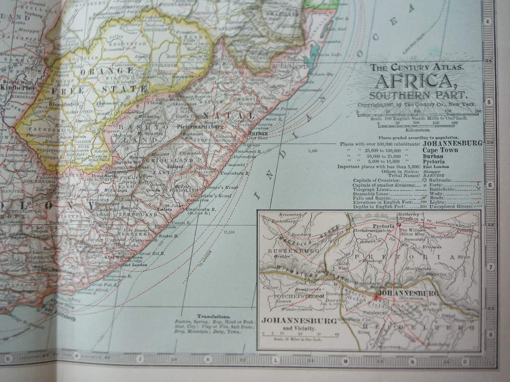 Image 1 of The Century Atlas  Map of South Africa (1897)