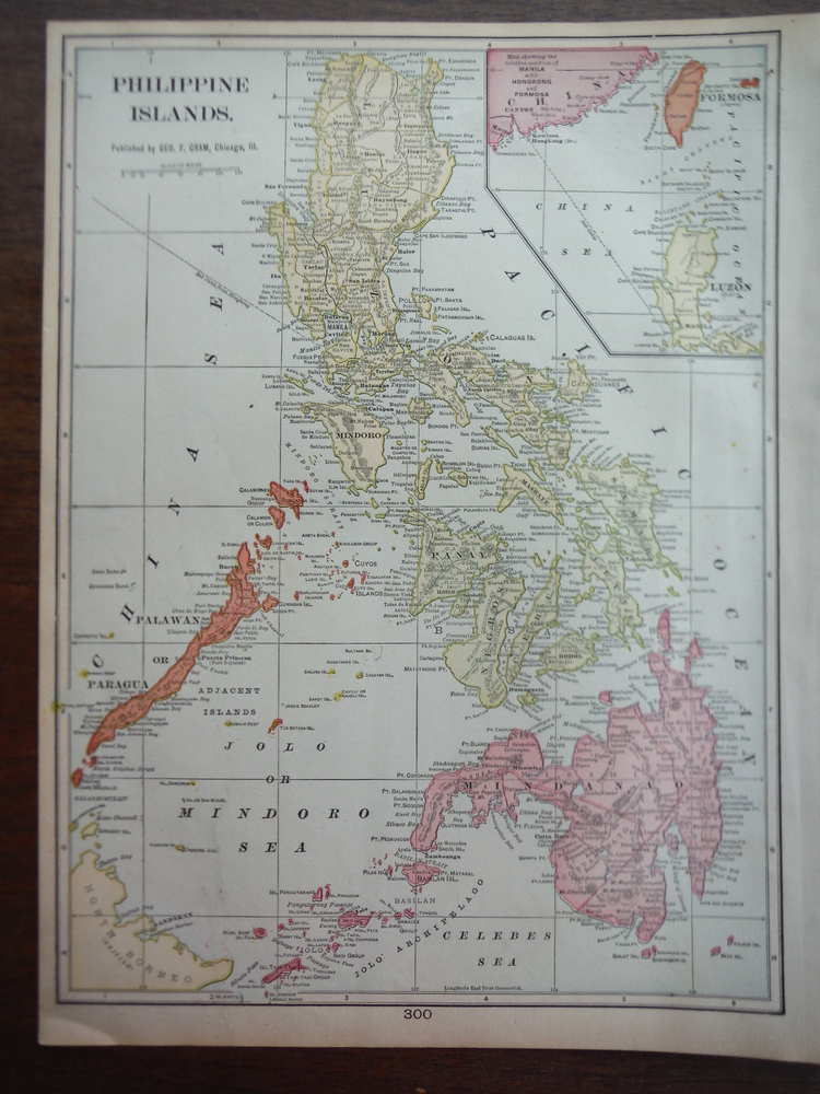 Cram's Map of the Philippine Islands  (1901)
