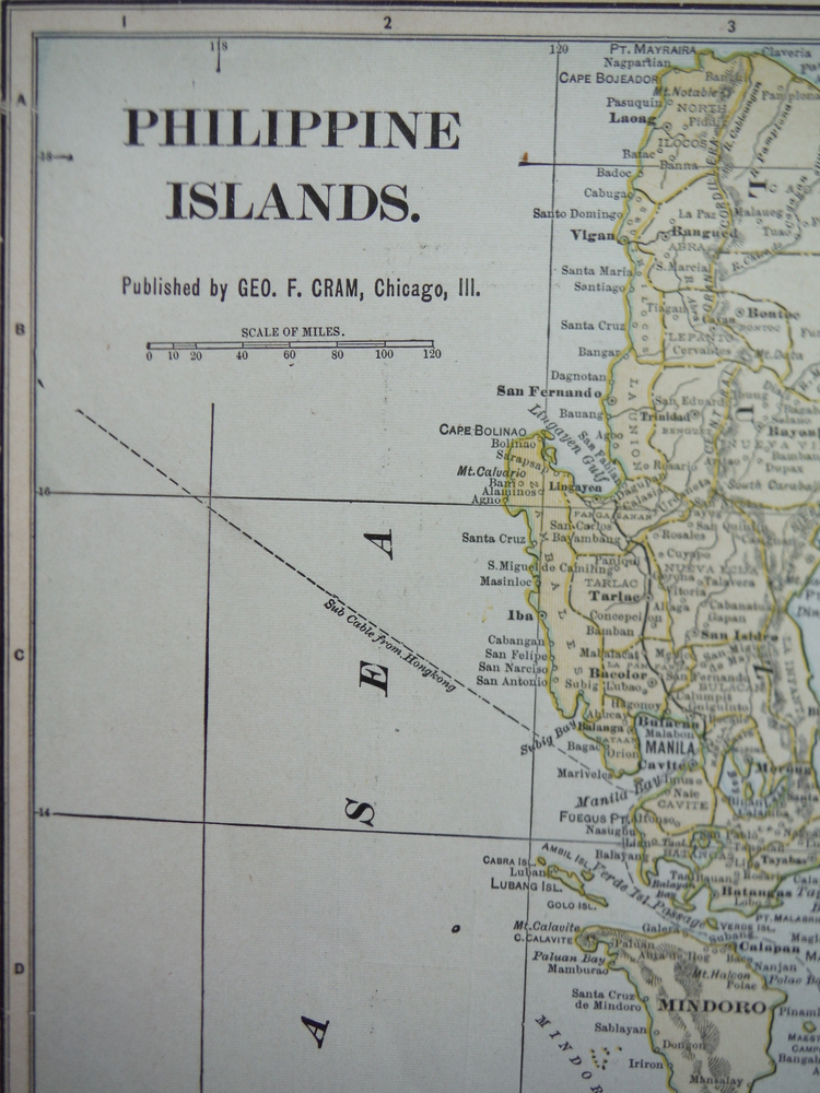 Image 1 of Cram's Map of the Philippine Islands  (1901)
