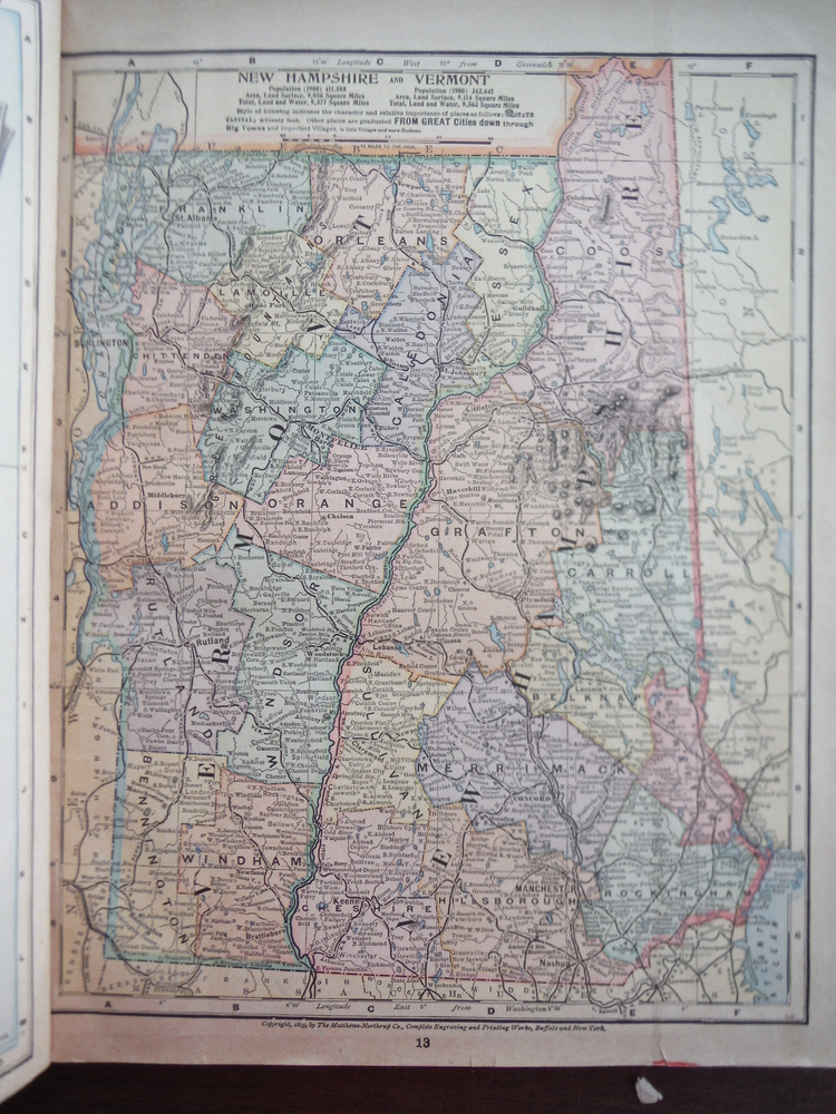 Image 0 of Matthews-Northrup Map of New Jersey (1901)