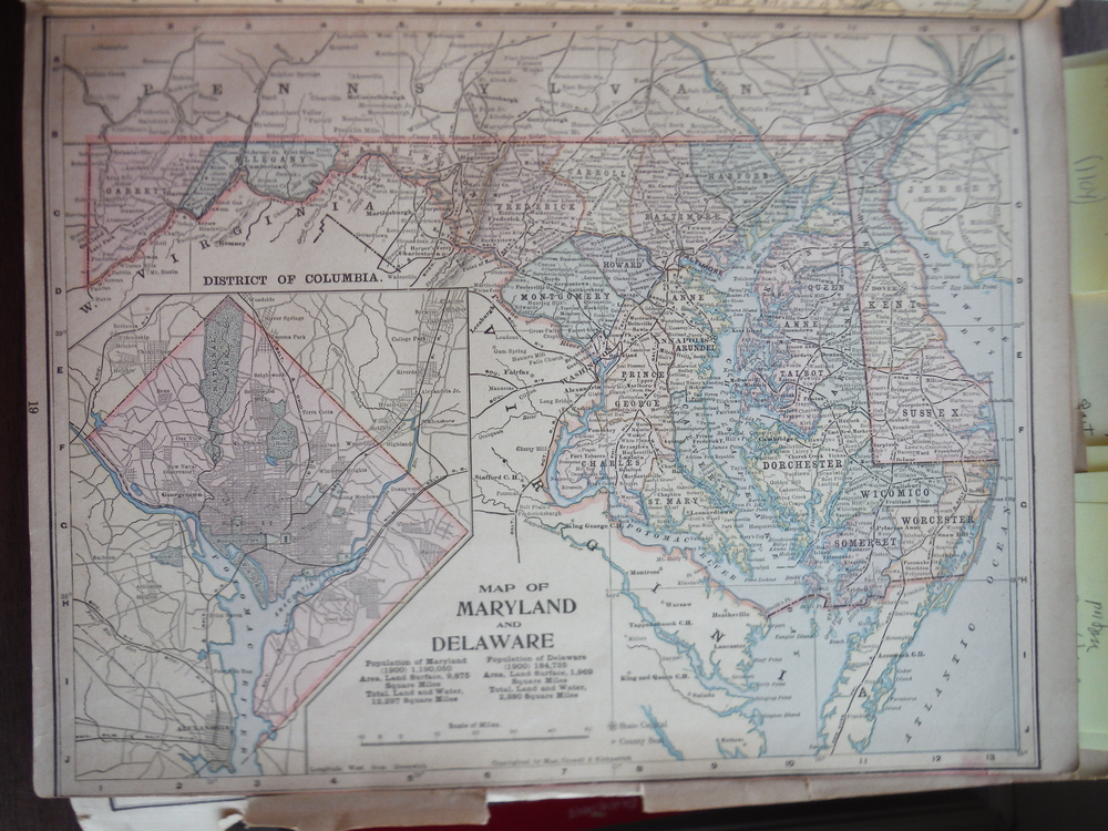 Matthews-Northrup Map of Maryland and Delaware (1901)