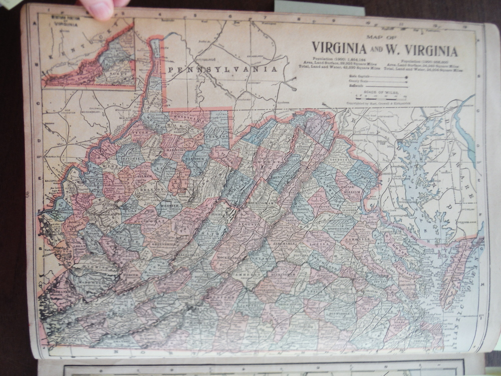 Image 1 of Matthews-Northrup Map of Maryland and Delaware (1901)