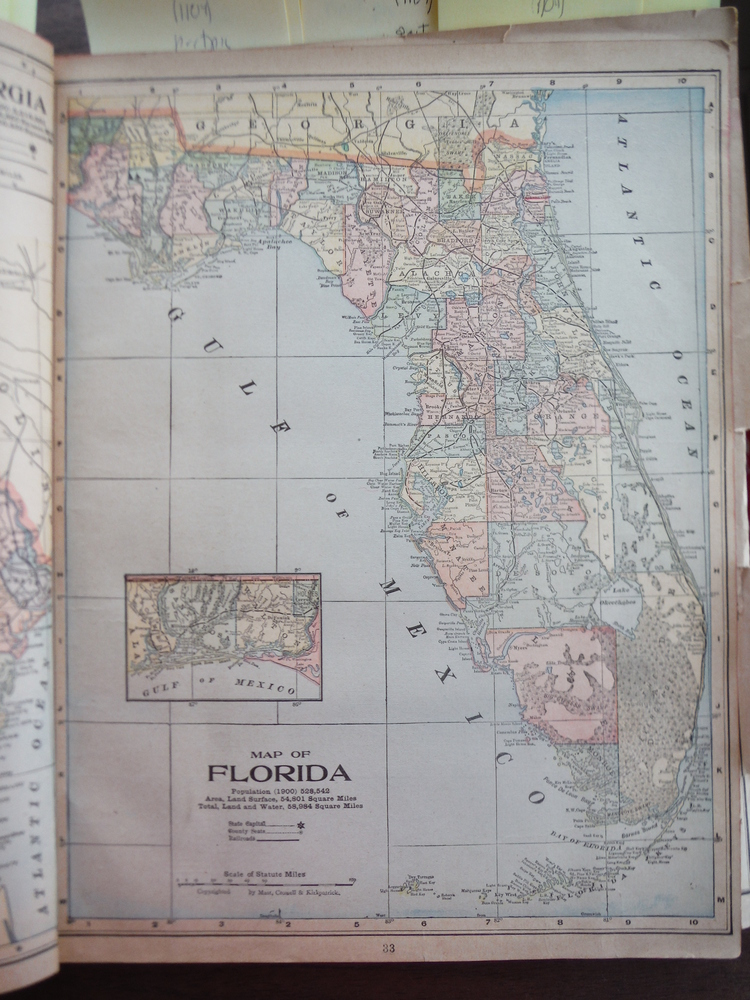 Image 0 of Maps of Florida and Alabama (1901)