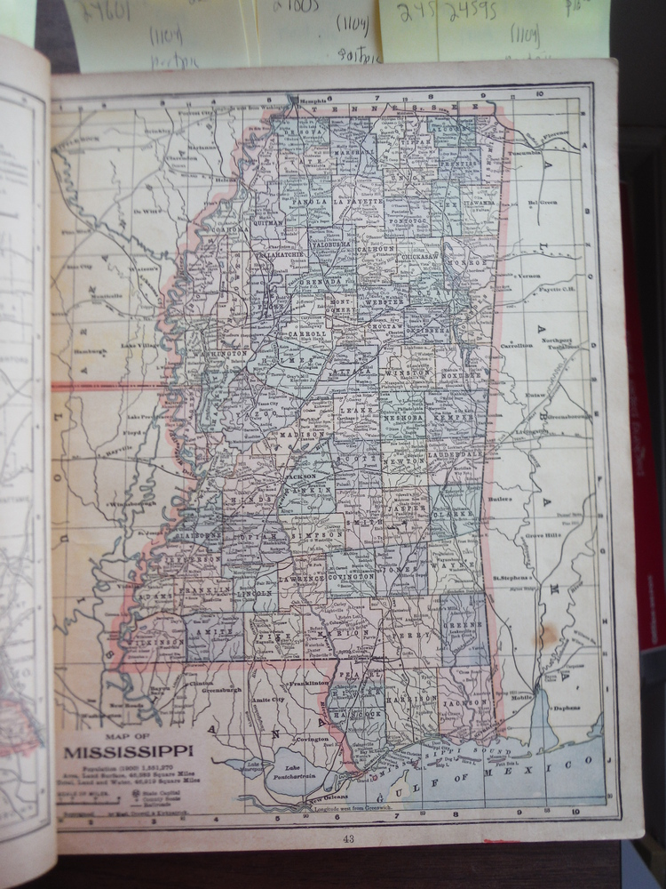 Maps of Mississippi and Louisiana (1901)