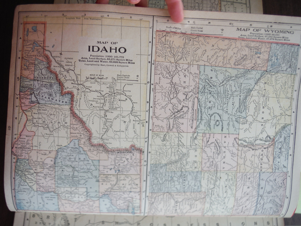 Image 1 of Maps of Colorado and of Idaho and Wyoming (1901)