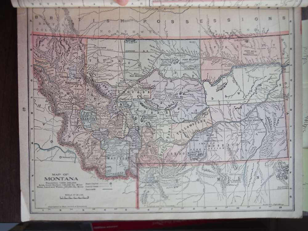 Image 0 of Maps of Montana and Utah (1901)