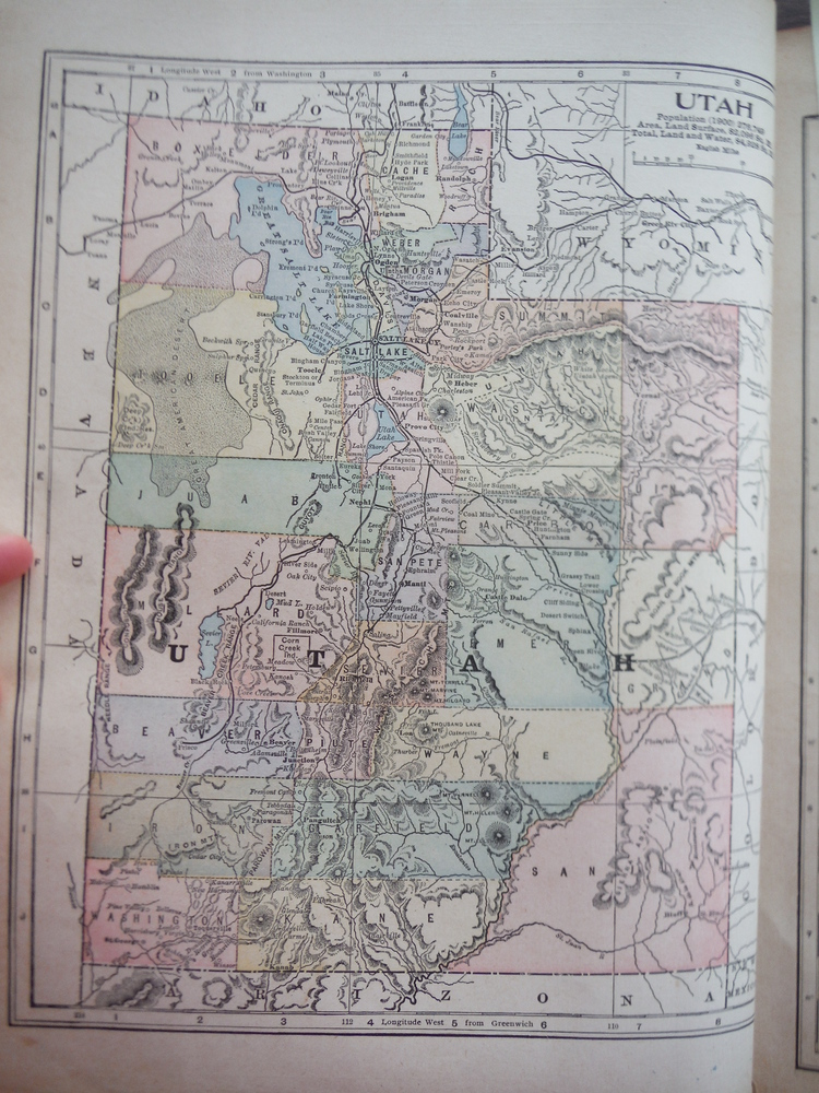 Image 1 of Maps of Montana and Utah (1901)