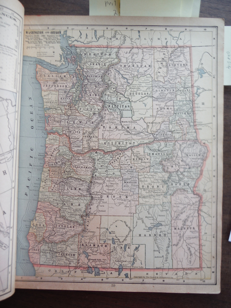 Image 0 of Maps of Washington and Oregon and Arizona and New Mexico (1901)