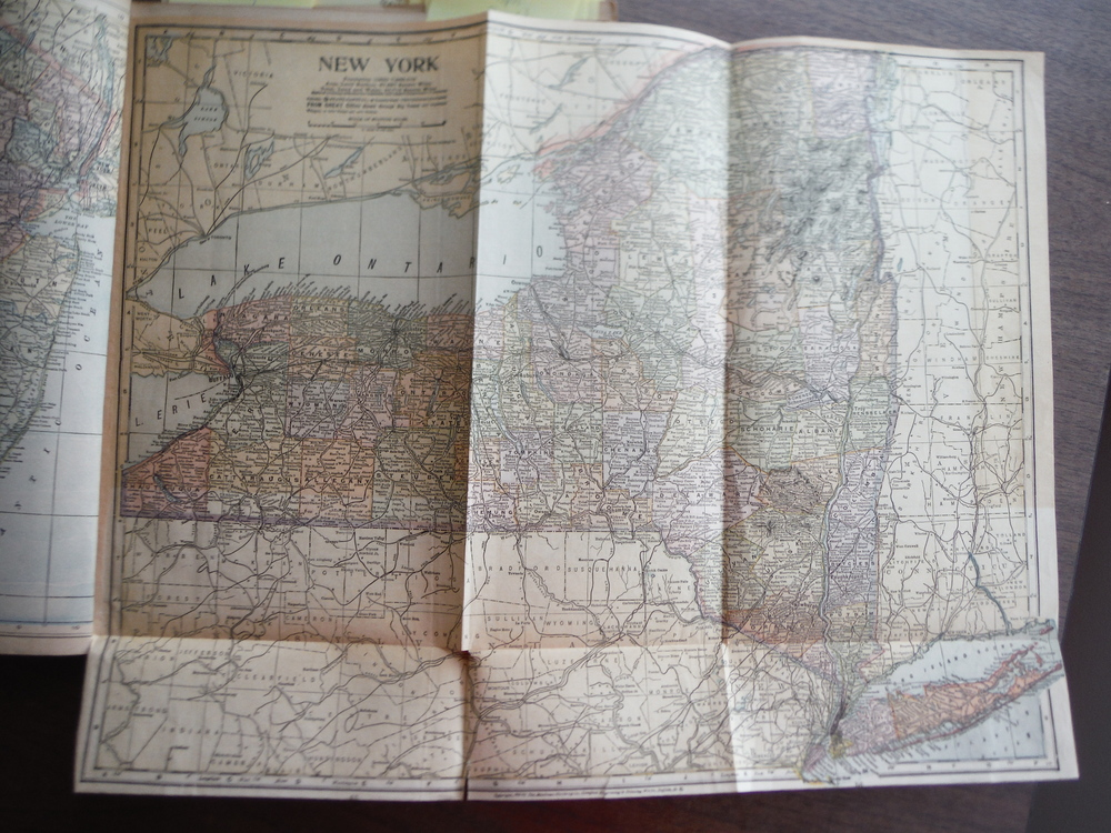 Maps  of New York and Michigan (1901)