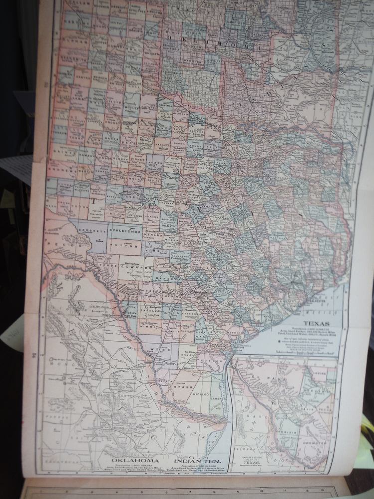 Image 1 of Maps  of  Texas and Kansas (1901)