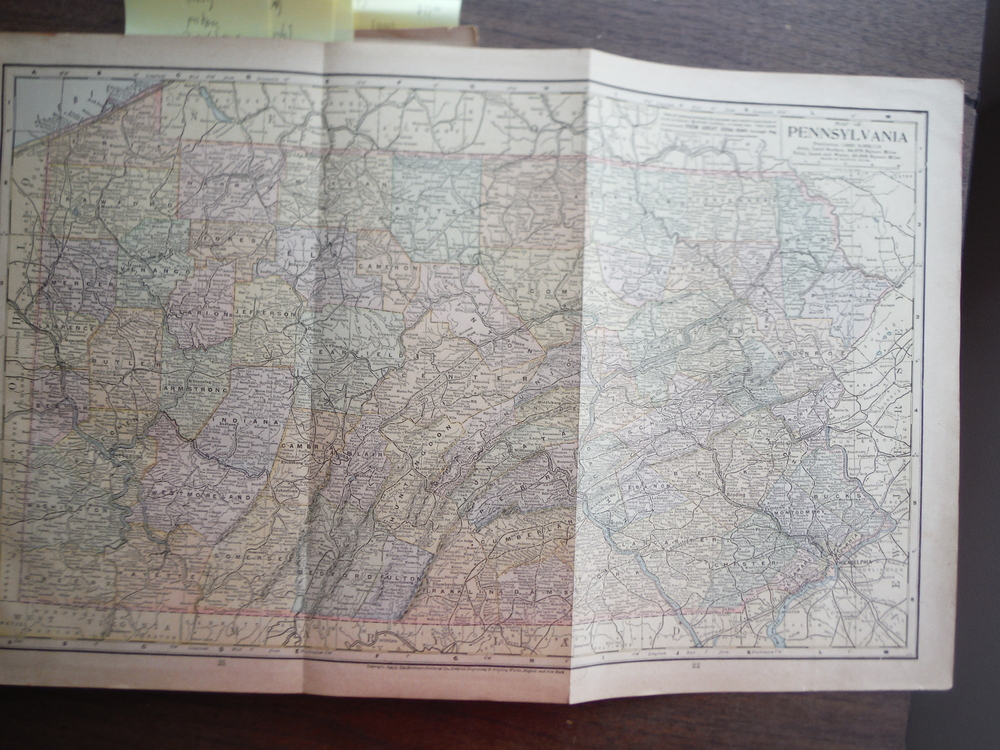 Maps  of  Pennsylvania and Indiana (1901)