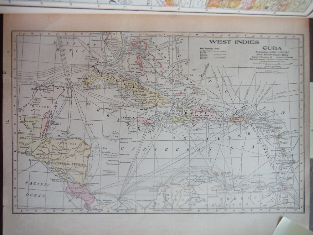 Image 0 of Map of West Indies and Cuba (1901)