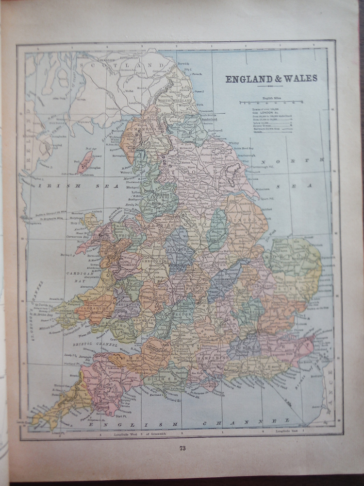 Maps of England & Wales and of Ireland (1901)