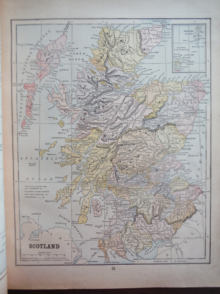 Maps of Scotland and of Sweden & Norway (1901)