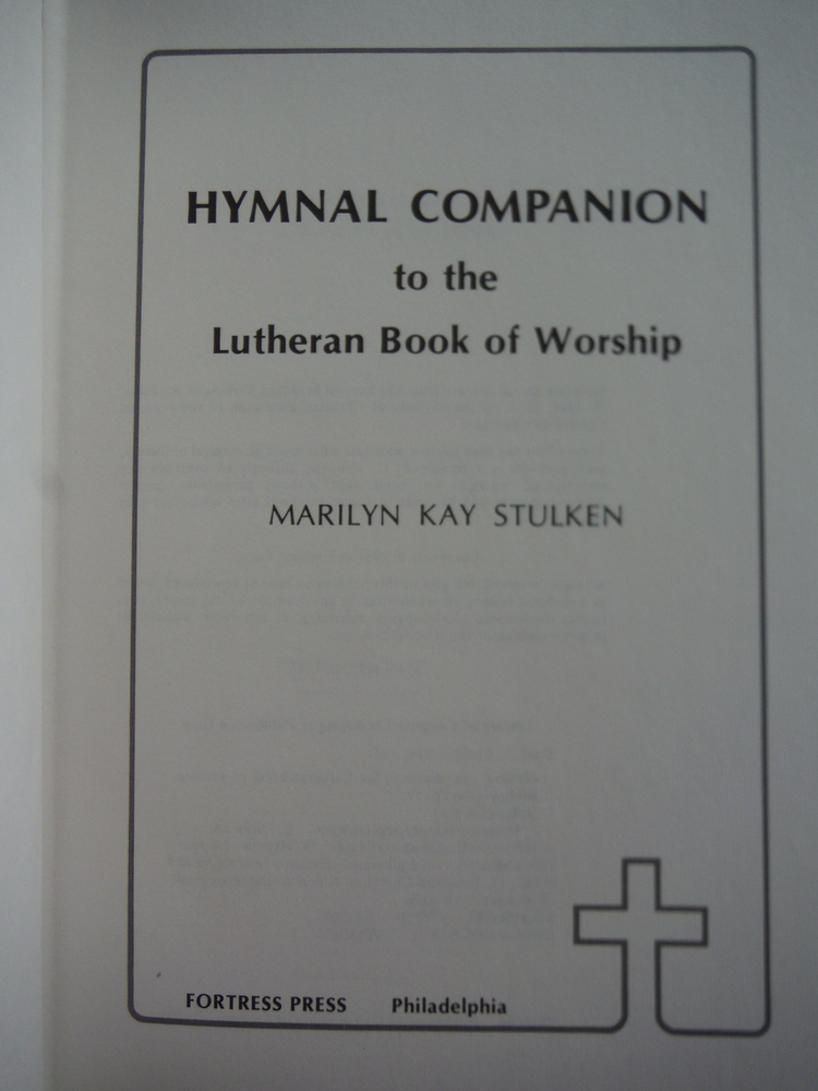Image 1 of Hymnal Companion to the Lutheran Book of Worship
