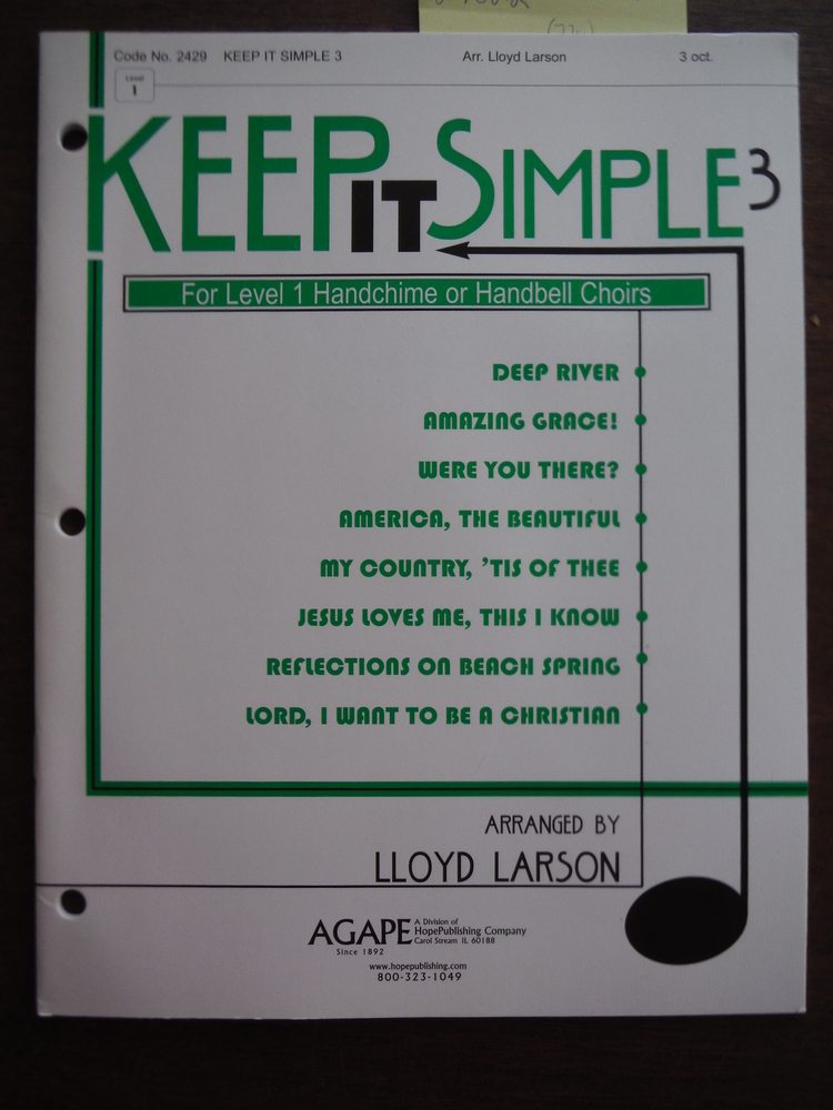 Image 0 of Keep It Simple 3 (2 octave handbells - Grade 1) By Lloyd Larson. This edition: C