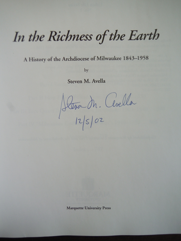 Image 1 of In the Richness of the Earth: A History of the Archdiocese of Milwaukee, 1843-19