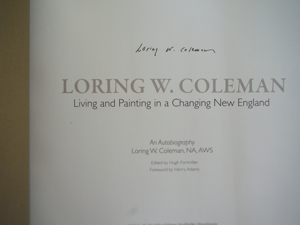 Image 1 of Loring W. Coleman: Living and Painting in a Changing New England- An Autobiograp