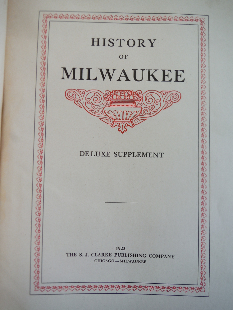 Image 1 of History of Milwaukee Deluxe Supplement
