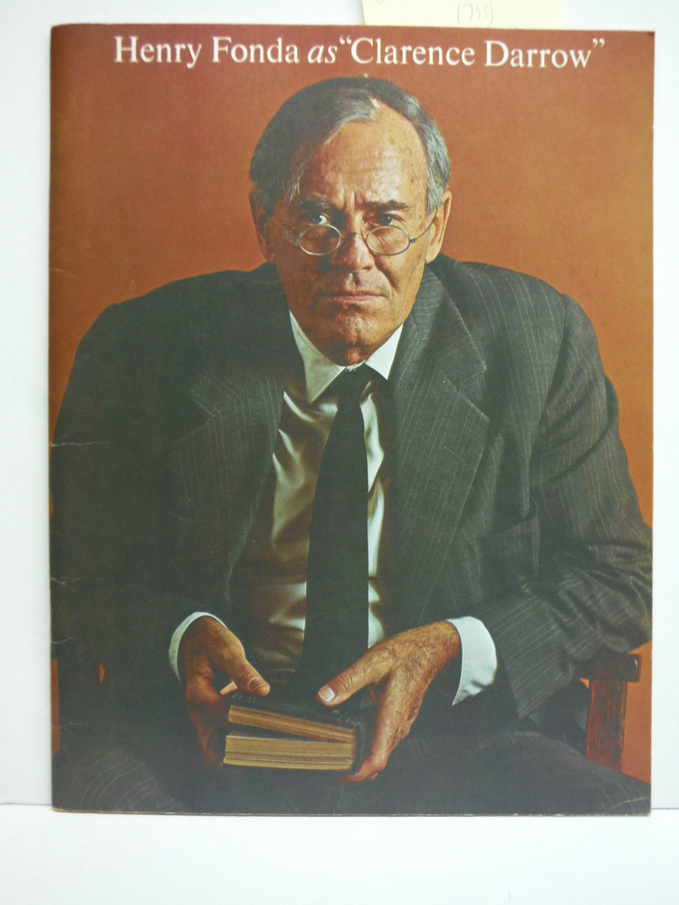 Henry Fonda as Clarence Darrow Souvenir Program