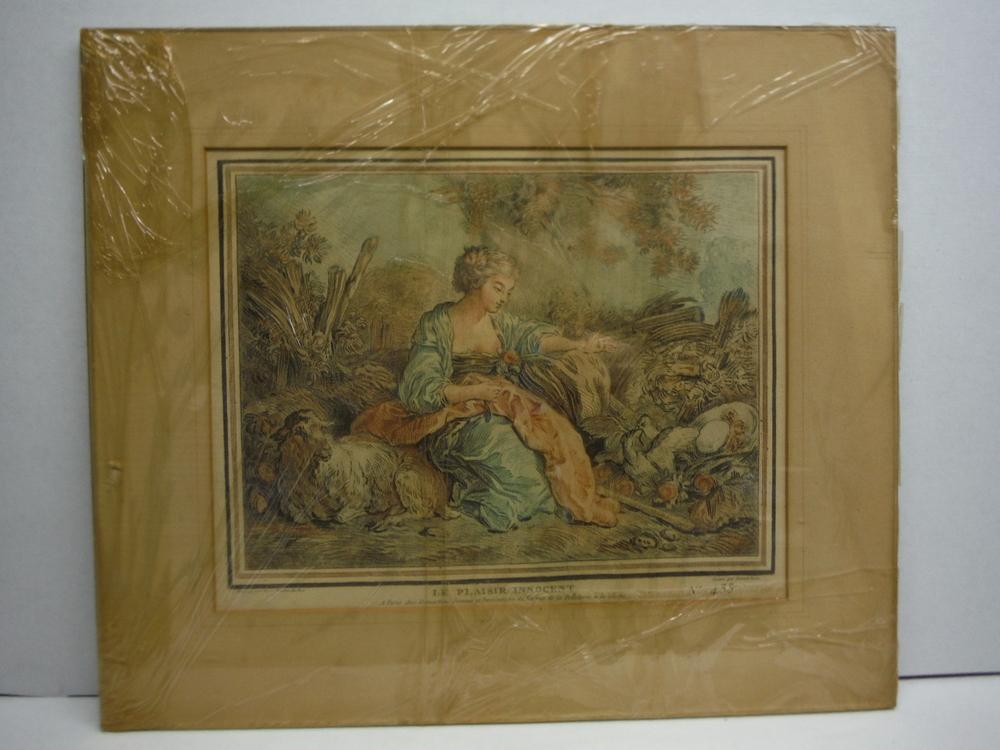 Image 0 of Le Plaisir Innocent No 433 Engraving by Gilles Demarteau