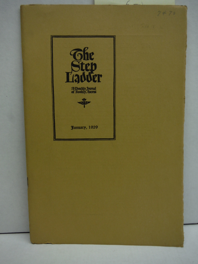 Image 1 of The Step Ladder A Monthly Journal of Bookly Ascent - 6 Issues (1929)