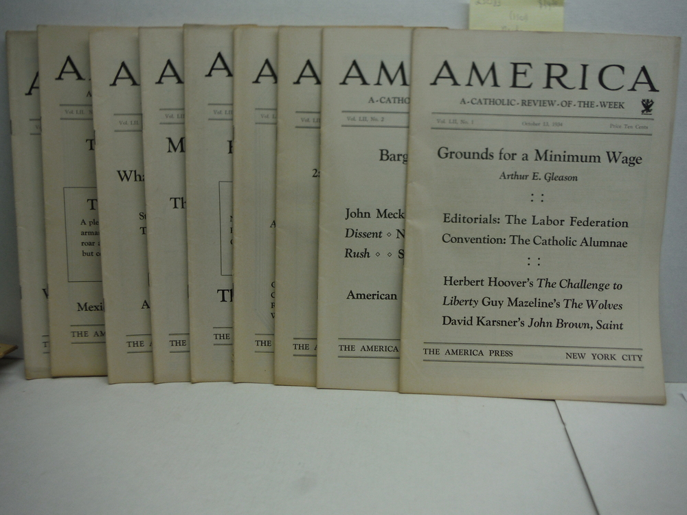 America A Catholic Review of the Week Vol. L!! No. 1-9 (1934