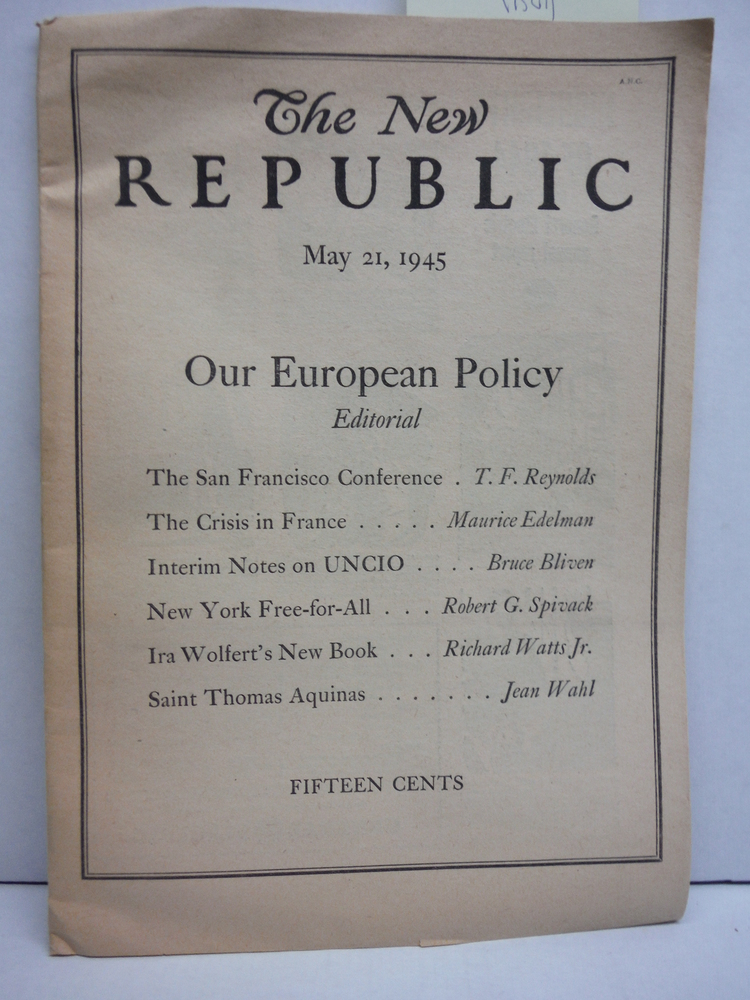 Image 0 of The New Republic May 21, 1945