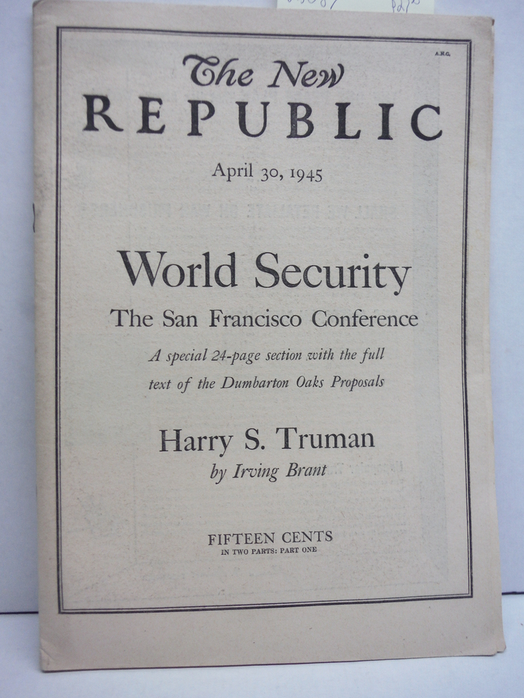Image 0 of The New Republic  April 30, 1945