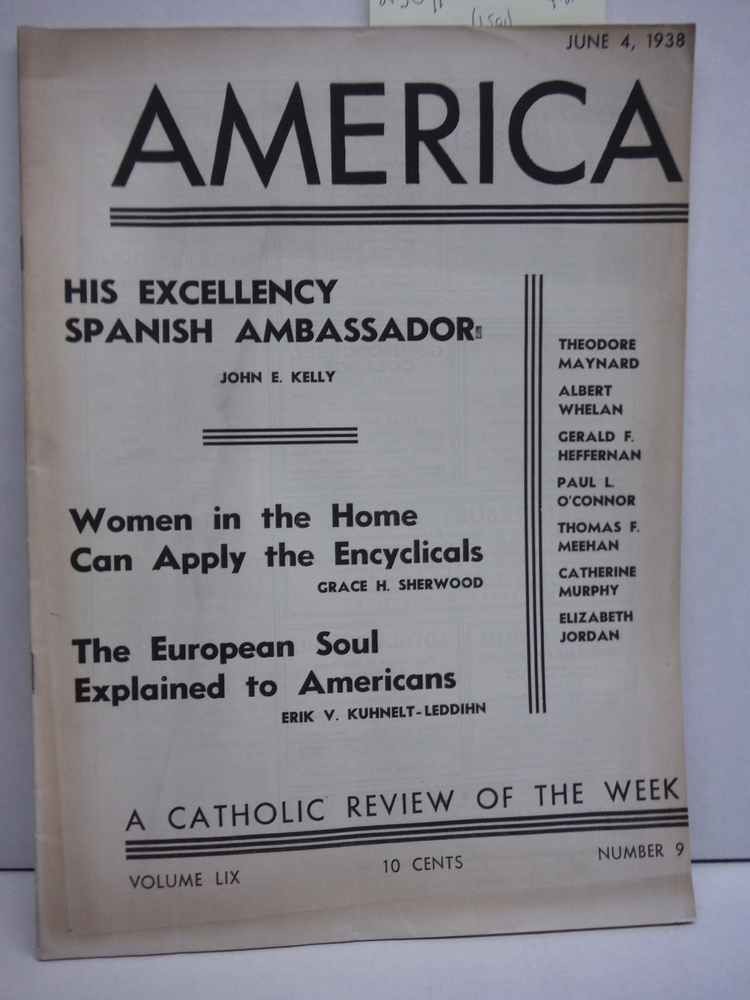 America A Catholic Review of the Week Vol LIX No. 9 (June 4, 1938)