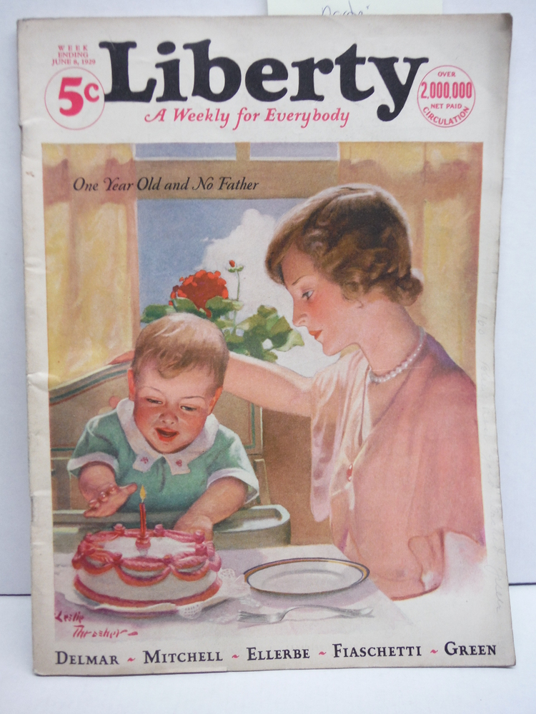 Image 0 of Liberty A Weekly for Everybody Week Ending June 8, 1929 - Leslie Thrasher cover