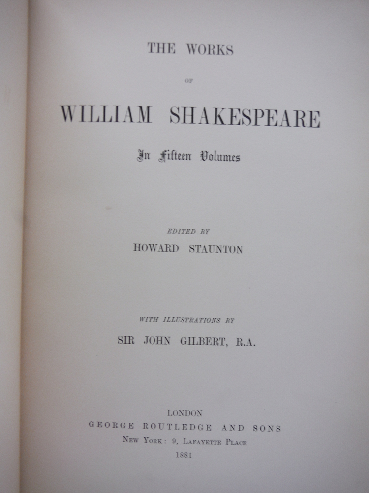 Image 2 of The Works of William Shakespeare in Fifteen Volumes; Volume 3