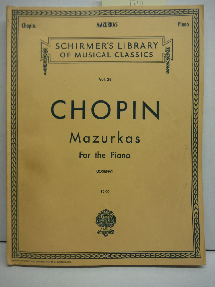 Chopin Mazurkas for the Piano (Shirmer's)