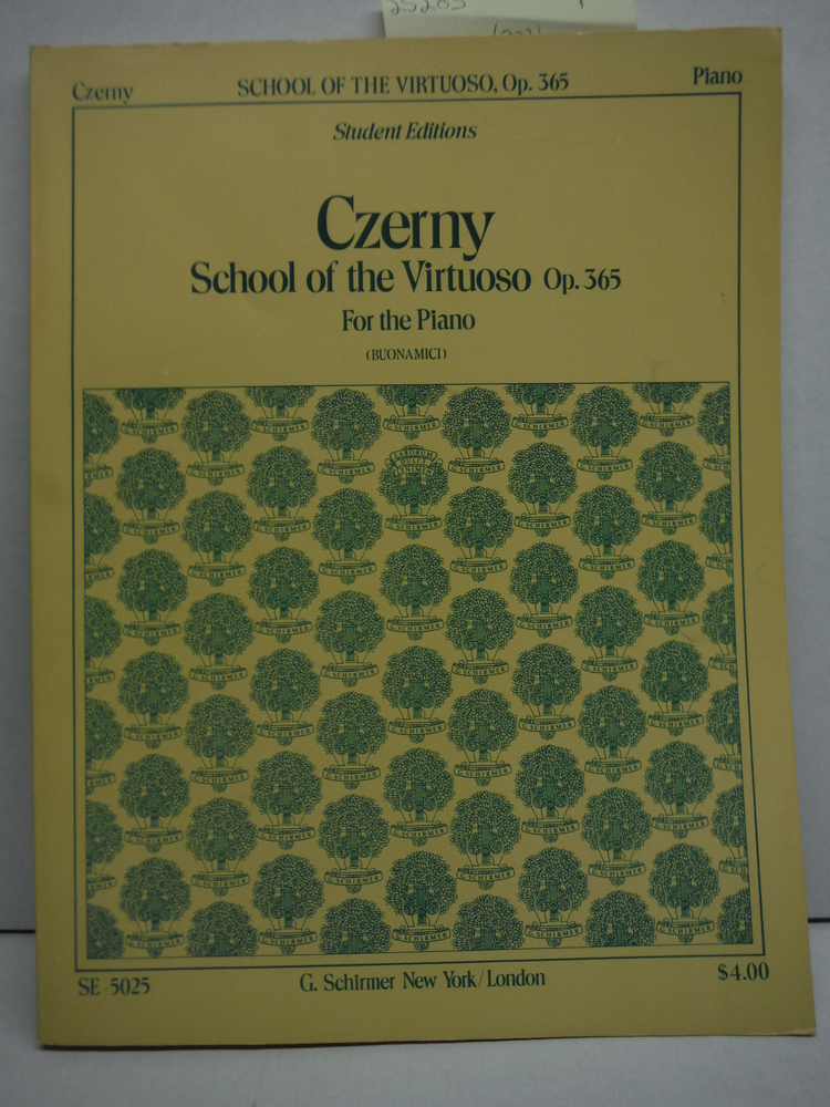 Czerny School of the Virtuoso Op. 365 for the Piano