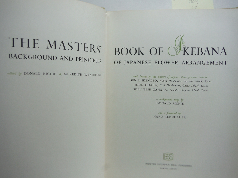 Image 1 of The Masters' Book of Ikebana: Background & Principles of Japanese Flower Arrange