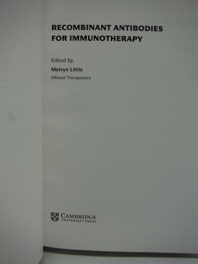 Image 1 of Recombinant Antibodies for Immunotherapy