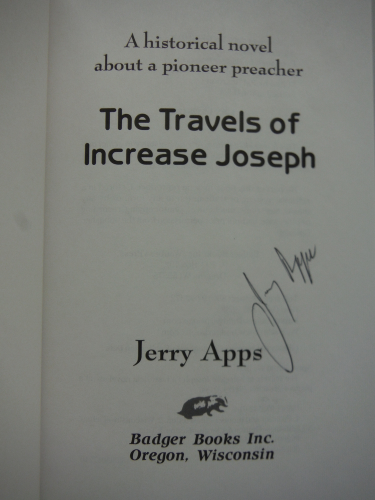 Image 1 of The Travels of Increase Joseph: A Historical Novel About a Pioneer Preacher