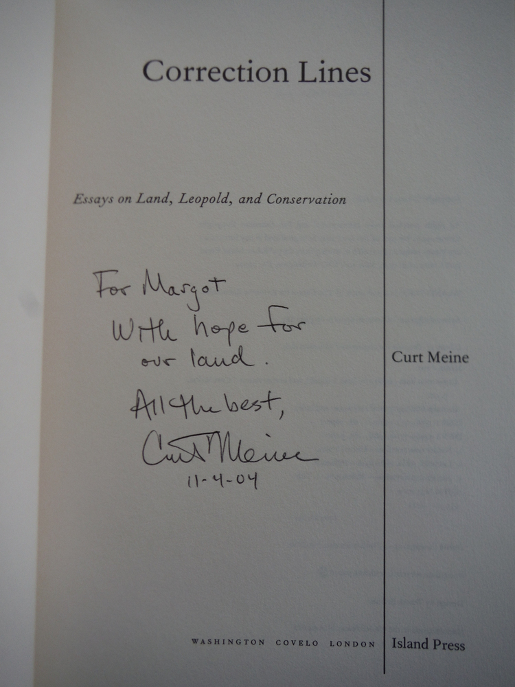 Image 1 of Correction Lines: Essays on Land, Leopold, and Conservation