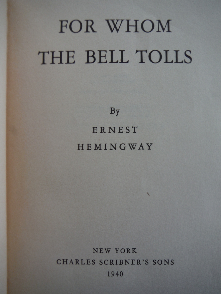 Image 1 of For Whom the Bell Tolls