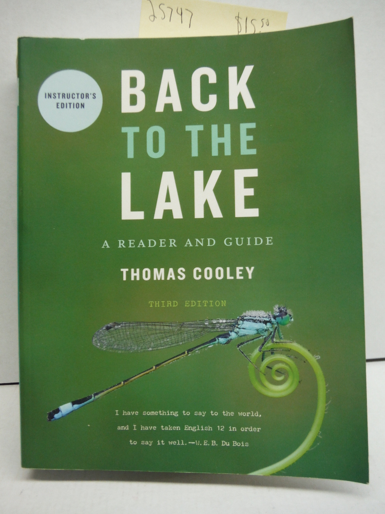 Image 0 of Back To the Lake: A Reader and Guide. 3rd Edition. Instructor's Edition