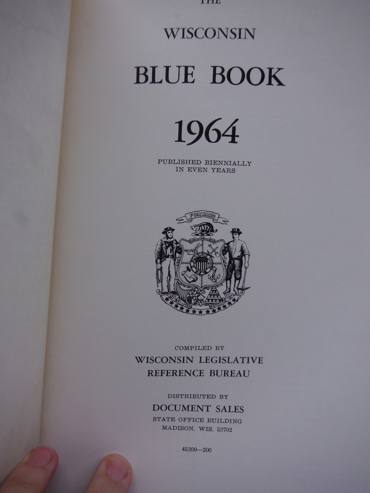 Image 1 of The Wisconsin Blue Book 1964