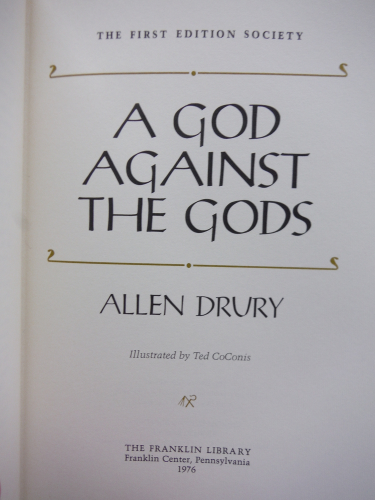 Image 1 of A God against the Gods (Leather bound)