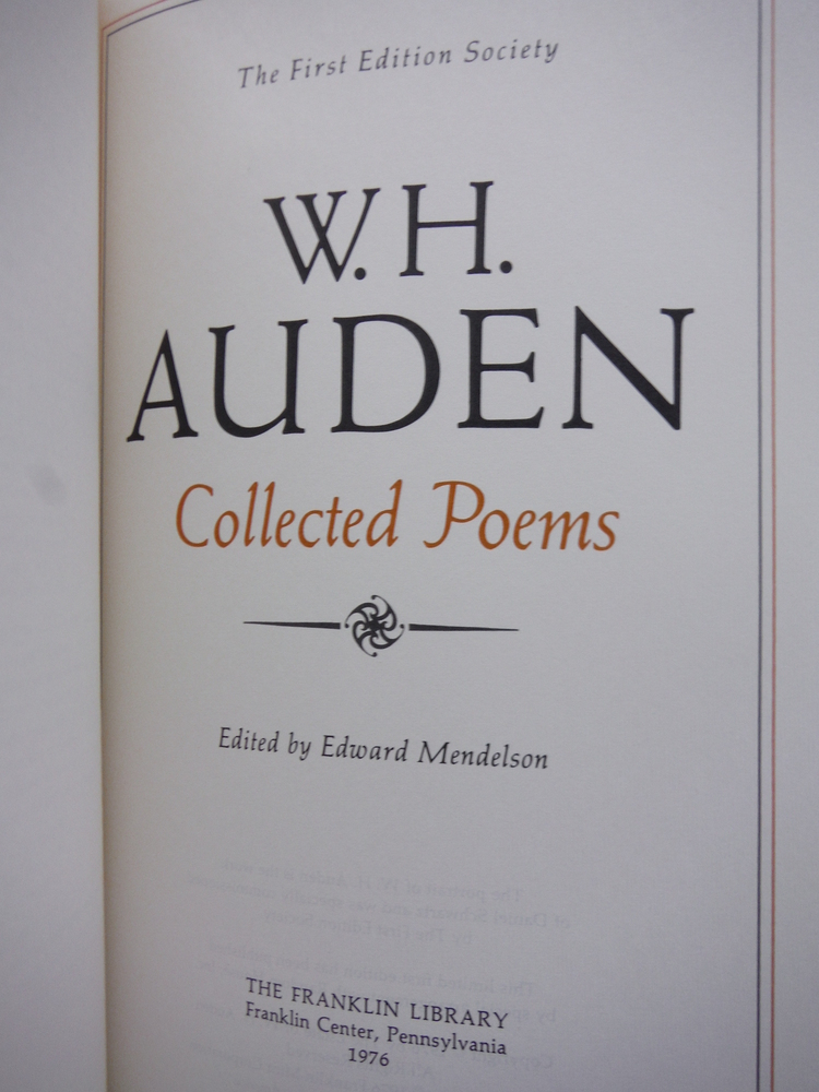 Image 1 of W. H. Auden Collected Poems