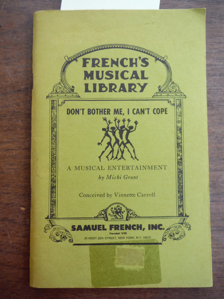 Image 0 of Don't Bother Me, I Can't Cope: A Musical Entertainment (French's Musical Library