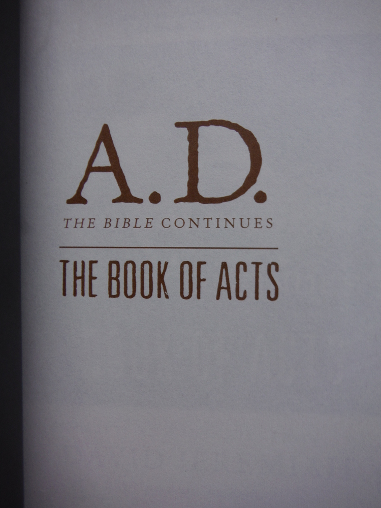 Image 1 of A.D. The Bible Continues: The Book of Acts: The Incredible Story of the First Fo