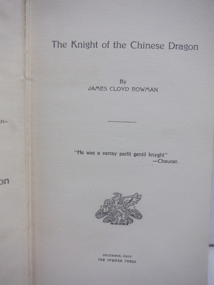 Image 1 of The Knight of the Chinese Dragon