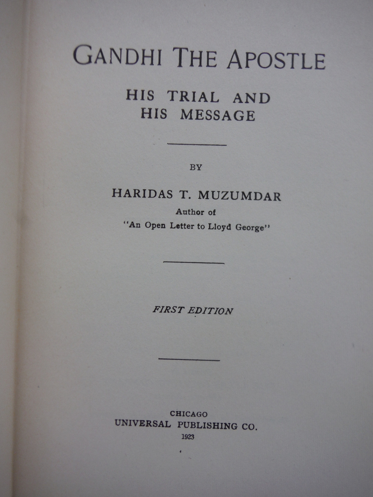 Image 1 of Gandhi the Apostle: His Trial and His Message