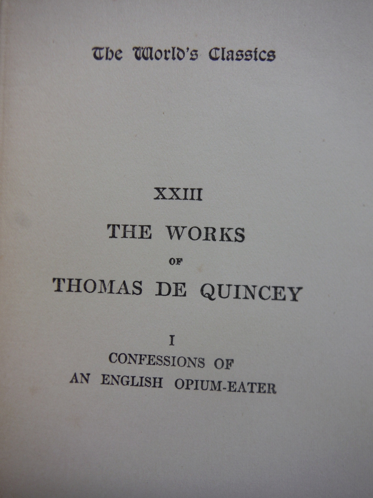 Image 1 of Confessions of an English Opium-eater