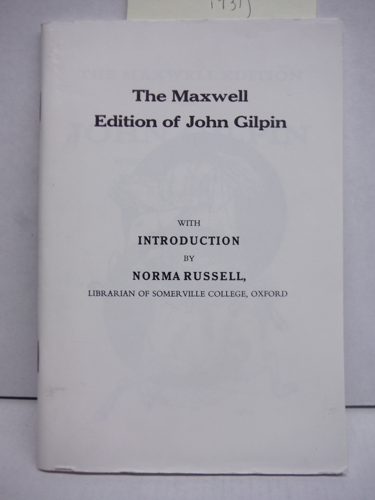 Image 0 of The Maxwell Edition of John Gilpin